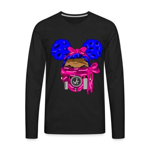 Blue Top - Pink Maks - Men's Premium Long Sleeve T-Shirt
