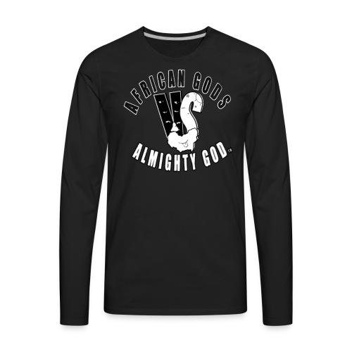 African Gods Versus Almighty God Logo - Men's Premium Long Sleeve T-Shirt