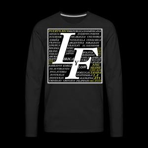 LIRICA Y FLOW logo oficial - Men's Premium Long Sleeve T-Shirt