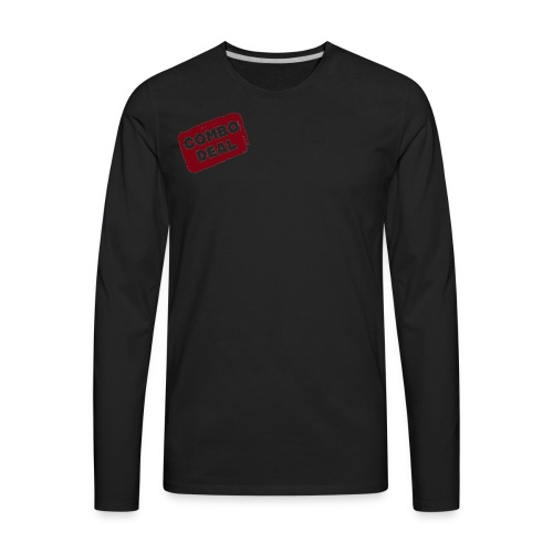 Combodeal Transparent Logo - Men's Premium Long Sleeve T-Shirt