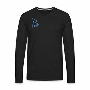 Brenden London BLUE Logo - Men's Premium Long Sleeve T-Shirt