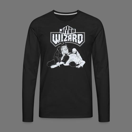 Jiu Jitsu Wizard- Crystal ball-o-plata - Men's Premium Long Sleeve T-Shirt