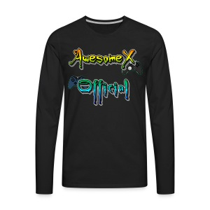 Official AwesomeX Logo Clothing - Men's Premium Long Sleeve T-Shirt