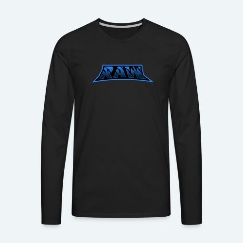 raw blue - Men's Premium Long Sleeve T-Shirt