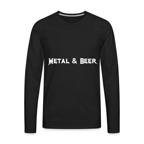 metalbeer_ok - T-shirt Premium à manches longues pour hommes