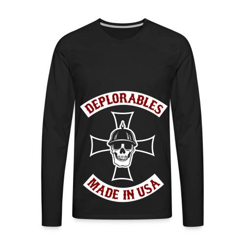 Deplorables - Made in USA - Bikers for Trump - Men's Premium Long Sleeve T-Shirt