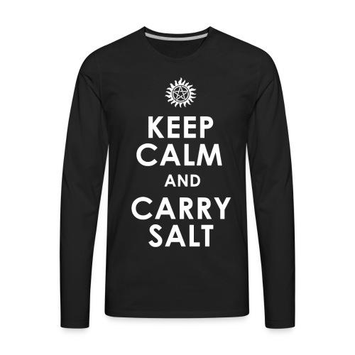 keep calm and carry Salt - Men's Premium Long Sleeve T-Shirt