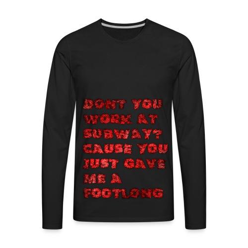 footlong - Men's Premium Long Sleeve T-Shirt