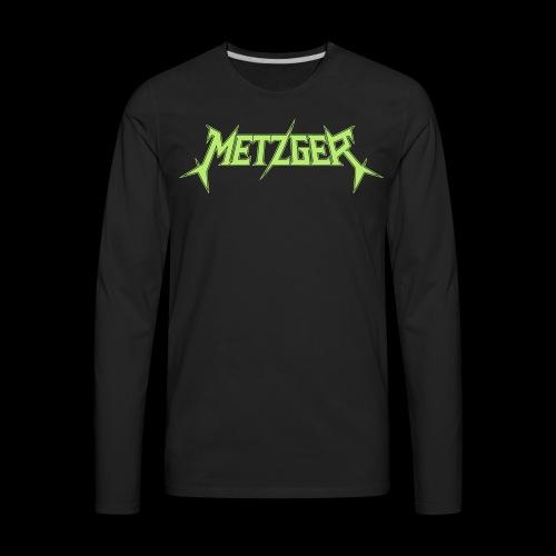 Metzger green logo - Men's Premium Long Sleeve T-Shirt