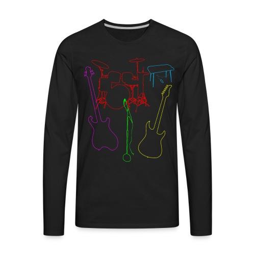 Set of a musical band instruments - Men's Premium Long Sleeve T-Shirt