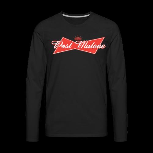 Post Malone: The King of R&B - Men's Premium Long Sleeve T-Shirt