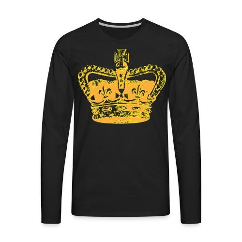 SR CROWN LOGO - Men's Premium Long Sleeve T-Shirt
