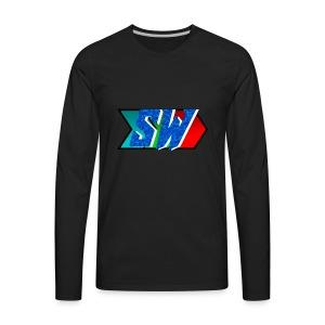 Salty World Logo - Men's Premium Long Sleeve T-Shirt