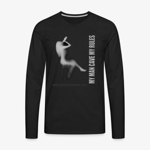 Man Cave Hideout making the rules - Men's Premium Long Sleeve T-Shirt