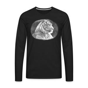 Tiger Sketch - Men's Premium Long Sleeve T-Shirt
