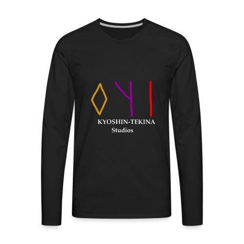 Kyoshin-Tekina Studios logo (white text) - Men's Premium Long Sleeve T-Shirt