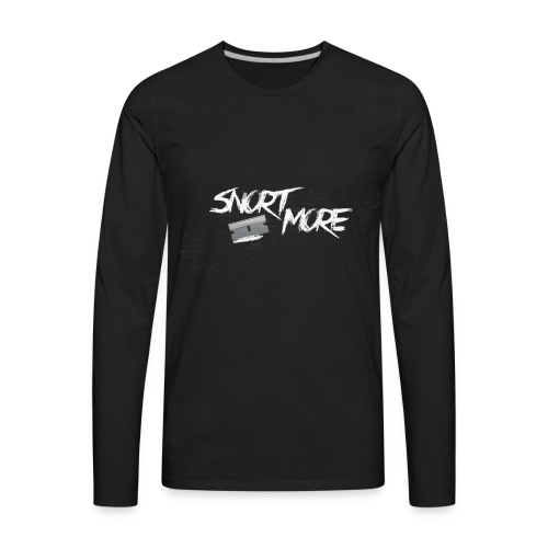 Snort More by RMA - Men's Premium Long Sleeve T-Shirt