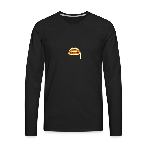 Gold Mouth Drip - Men's Premium Long Sleeve T-Shirt