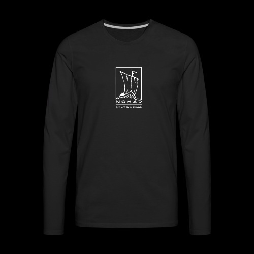 Nomad Boatbuilding Logo - Men's Premium Long Sleeve T-Shirt