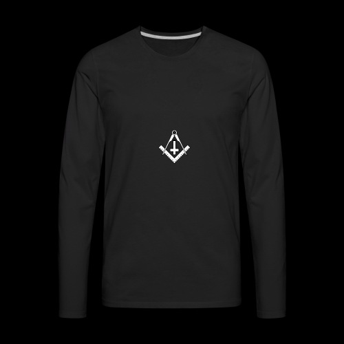 FreemasonCrossBlack - Men's Premium Long Sleeve T-Shirt