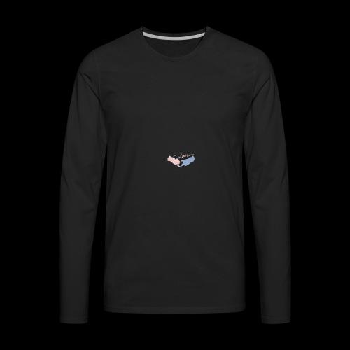 Black T-Shirt - Seventeen - T-shirt Premium à manches longues pour hommes