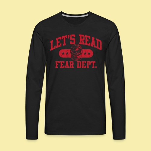Fear Dept - Athletic Red - Inverted - Men's Premium Long Sleeve T-Shirt