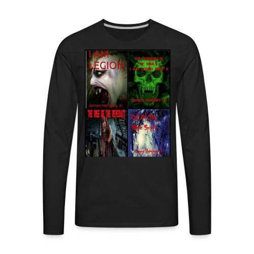 Horror Novels Collection - Men's Premium Long Sleeve T-Shirt