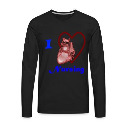 I Love Nursing - Men's Premium Long Sleeve T-Shirt