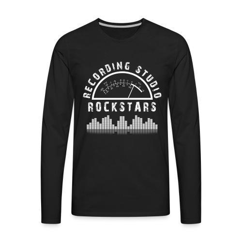 Recording Studio Rockstars - White Logo - Men's Premium Long Sleeve T-Shirt