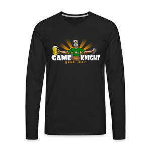 Game Knight Geek Bar Logo - Men's Premium Long Sleeve T-Shirt