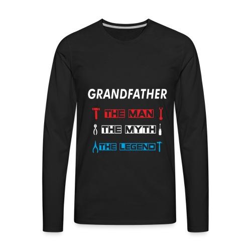 Great Promoted to Papa, New Grandpa Gift T-Shirt - Men's Premium Long Sleeve T-Shirt
