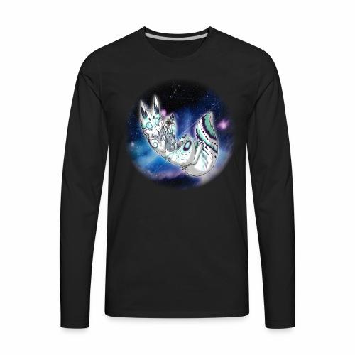 Moki Space Cat - Men's Premium Long Sleeve T-Shirt