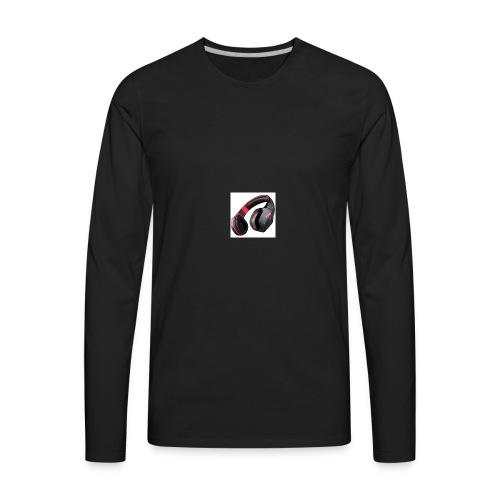 headphones - Men's Premium Long Sleeve T-Shirt