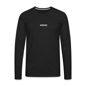 wolfea logo - Men's Premium Long Sleeve T-Shirt