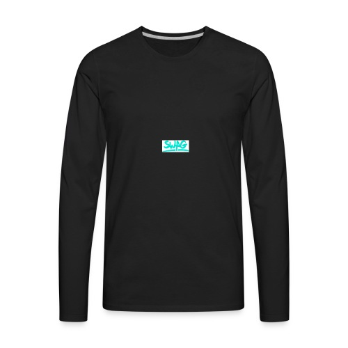 SWAG IS THE REASON WHY PEOPLE ARE INTO HIP HOP - Men's Premium Long Sleeve T-Shirt