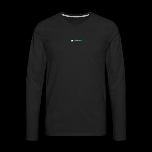 microserum blanc petit - T-shirt Premium à manches longues pour hommes