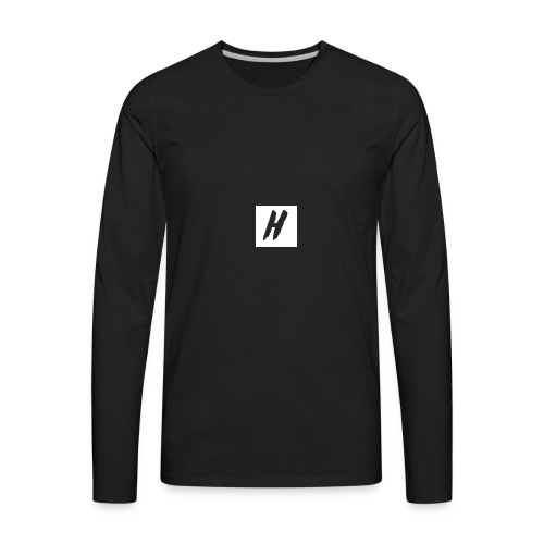 White HMF Logo - Men's Premium Long Sleeve T-Shirt