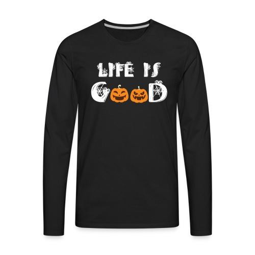 Cute Halloween Pumpkin Patch - Men's Premium Long Sleeve T-Shirt