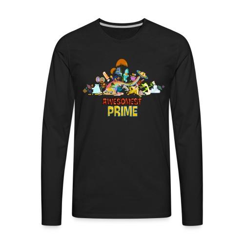 AWESOMEST PRIME LOGO - Men's Premium Long Sleeve T-Shirt