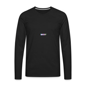 tr2ugs cousins logo BECKEY - Men's Premium Long Sleeve T-Shirt