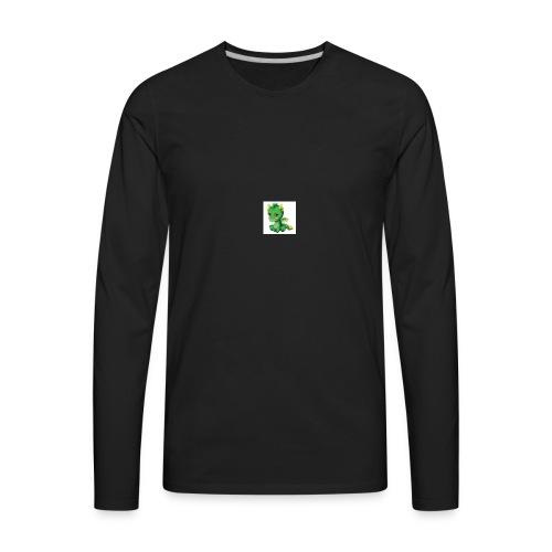 Sad Cartoon Dragon - Men's Premium Long Sleeve T-Shirt