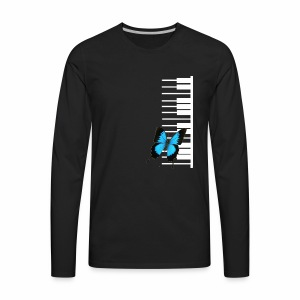 White piano with butterfly - Men's Premium Long Sleeve T-Shirt