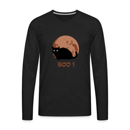 Cat Shirt, Funny Cute Animal Halloween Costum - Men's Premium Long Sleeve T-Shirt
