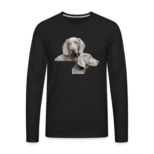 Weimaraner dog - Men's Premium Long Sleeve T-Shirt