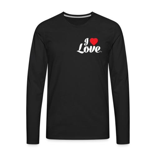 I Love Love - Men's Premium Long Sleeve T-Shirt