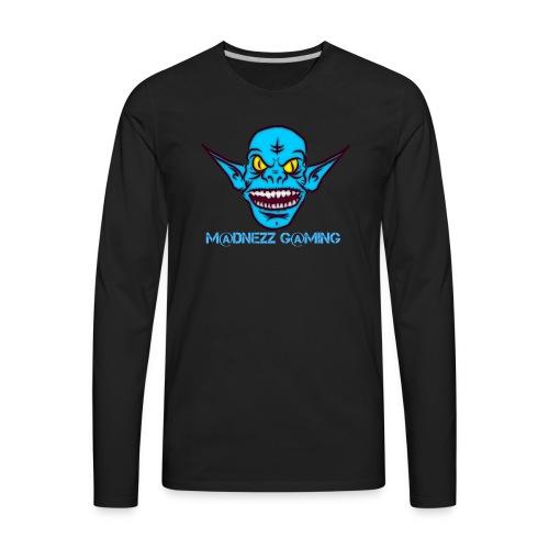 Madnezz Gaming Logo - Men's Premium Long Sleeve T-Shirt