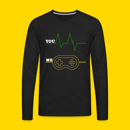 Gamer Heart beat - Men's Premium Long Sleeve T-Shirt