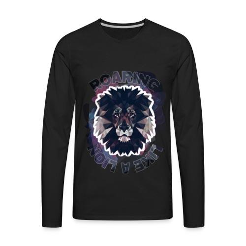 Roaring like a lion - Men's Premium Long Sleeve T-Shirt