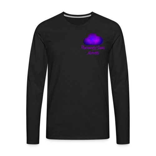 Psychedelic Skies Team Logo - Men's Premium Long Sleeve T-Shirt