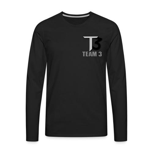 TEAM 3 LOGO - Men's Premium Long Sleeve T-Shirt